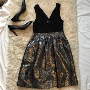 NWOT Stunning Black and Silver Cocktail Dress